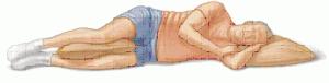 decubito lateral acostado de costado