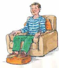 Posición sentado de paciente en cuidados